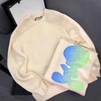 marca de sudadera más cálida al por mayor-Suéter de lujo Pullover Hombres Sudadera Con Capucha Diseñador de Manga Larga Carta Bordado Prendas de Punto Marca de Invierno Ropa Para Hombre Mantener Caliente