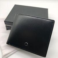 Wholesale craft interior resale online - Luxury leather wallet short clip MB card artificial craft craft brand designer card case MT business card holder photo frame dust bag box