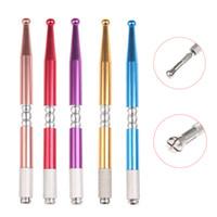 kalıcı makyaj kaş kalemi toptan satış-1 Adet YENI Akrilik Profesyonel Microblading Kaş Kalemi Dövme Kalıcı Makyaj Göz Kaş Dövme Kalem Manuel Araçları