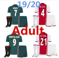 Wholesale free soccer uniforms for sale - Group buy high quality New Ajax kit Soccer Jersey Ajax away Customized KLAASSEN NOURIB free delivery football uniform