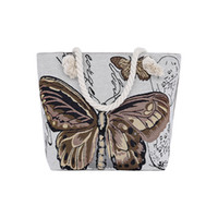 Wholesale butterfly print handbags resale online - New Butterfly Women Bag Casual Handbag Bolsa Printing Crossbody Bag Female Canvas Beach Bags Ladies Large Capacity Shoulder Bag
