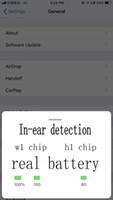 ingrosso baccelli universali-Sensing H1 Chip W1 Baccelli per cuffie ad aria per animazione 2 Auricolari Bluetooth Auricolari di qualità auricolare Auricolari wireless per auricolari iPhone 6 x xs