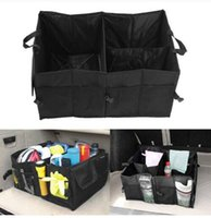 Wholesale gloves storage box for sale - Group buy Black Folding Car Storage Box Travel Trunk Glove Bag Organizer Tools Toys Storage Holder Bin Cubes Bag Car Styling Container