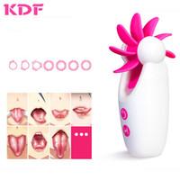 jouets électriques vaginaux achat en gros de-Vibrateurs de langue électriques Rotation de léchage oral Vibrations vaginales de mamelon Massager Stimulation clitoridienne Sex Toys pour femme