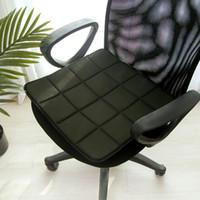 kühlkissenauflage großhandel-Quadratische Matte Rutschfeste Atmungsaktive Büro Bambuskohle Autozubehör Sitzkissen Kühlung Sofa Leichte Stuhlkissen Weich
