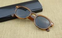 ingrosso occhiali da sole-Wholesale-Brand Design S M L Frame 18 Occhiali da sole con lenti colorate Lemtosh Johnny Depp Occhiali Occhiali da vista di alta qualità Arrow Rivet 1915 con custodia