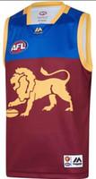 löwen rugby großhandel-2019 2020 Brisbane Lions Club STARTSEITE Rugby-Trikots AFL Brisbane Lions Club Trikot Unterhemd Liga-Trikots AFL Größe S-3XL
