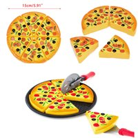 Wholesale kids pretend play toys resale online - 6Pcs Pizza Toy Kids Pretend Play Fake Food Party Cooking Cutting Creative Gift Toppings Pretend Dinner Kitchen Play Food Toys