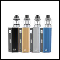 x9 mod toptan satış-OLAX X9 Bir Elektronik Sigara Başlangıç Kiti USB Şarj Edilebilir tam Fonksiyon Desteği 2200 mAh 18650 Pil X9 Atomiser Kutusu Mod