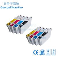 epson için uyumlu mürekkep kartuşu toptan satış-ZH 8 Paketleri Mürekkep Kartuşları T0711 T0712 T0713 T0714 Epson D78 D92 için Uyumlu D120 DX4000 DX4050 DX4400 Yazıcı