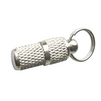 Wholesale pet id barrels resale online - Silver Pet ID Barrel Tag Address Label Tube