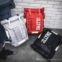letras luminosas venda por atacado-Marca de saída dos homens bolsa personalizada letras luminosas mochila ins super leve saco de estudante à prova d 'água cor contraste leis de viagem ao ar livre