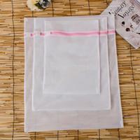 Wholesale lingerie wash bags online - 50sets set S M L Clothes Washing Machine Laundry Bra Aid Lingerie Mesh Net Wash Bag Pouch Basket