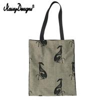 maßgeschneiderte tasche baumwolle großhandel-Noisydesigns Greyhound Printed Frauen Tote Einkaufstasche Customized Weibliche Leinwand Schulter Handtasche Baumwolle Schönheit Mädchen Freunde Geschenk