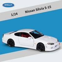 Wholesale nissan sport cars resale online - Welly Diecast Alloy Nissan Silvia S Car Model Toy Sports Car High Simulation Ornament for Xmas Kid Birthday Gifts Collecting