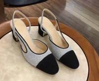 eva cabeça venda por atacado-Calçados casuais Designer quadrado cor combinando saltos grossos sandálias vestido de jantar nobre 21