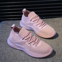 calcetines voladores al por mayor-Calzado del padre y zapatillas para niñas de 2009 Verano Volar Tejer calcetines Zapatos Versión coreana Malla deportiva Zapatos deportivos