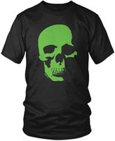 Wholesale casual clothes online online - Buy T Shirts Online Men s Neon Green Skull Men s T Shirt O Neck Short Design T Shirts T Shirts Brand Clothes Slim Fit Print