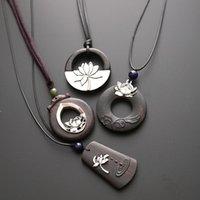 Retro Tibet Yoga Mandala Amulet Lotus Meditation Pendant Necklace Jewelry FJ