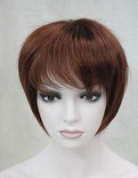 color de pelo castaño corto al por mayor-LL ER487 free shippng ~~~ Auburn / Burgundy Short Mujer Mujer Damas Peluca Cabello Diariamente Hivision