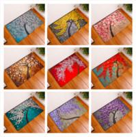 Wholesale 3d car carpet floor mats resale online - 3D Flower Doormat Bath Kitchen Carpet Decorative Anti Slip Mats Room Car Floor Bar Rugs Door Home Decor Gift