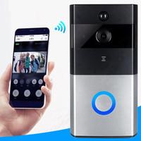 Wholesale door phone doorbell resale online - WIFI Doorbell P Smart IP Camera Video Intercom Wireless Door Phone Door Bell For Apartments IR Alarm Home Security