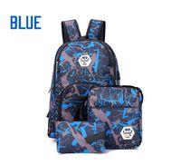 kamuflaj dışarısı sırt çantası toptan satış-En Iyi çanta açık kamuflaj seyahat sırt çantası bilgisayar çantası Oxford Fren zinciri orta okul öğrenci çantası Açık renkler ücretsiz kargo