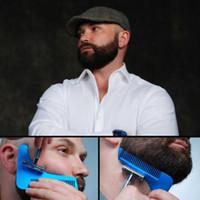 sakal tasarımı toptan satış-Sakal Şekillendirme Aracı Styling Şablon Kadınlar Için Sakal Tarak Şablon Sakal Modelleme Araçları Erkekler Için RRA1234