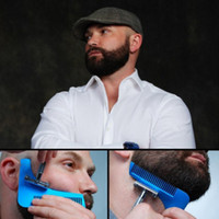 шаблоны инструментов оптовых-Борода Shaping Tool Styling Шаблон Женщины Борода Гребень Для Шаблонов Инструменты для Бороды Моделирования Для Мужчин RRA1234
