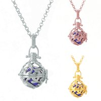 Wholesale harmony ball locket for sale - Group buy Grass Harmony Musical Ball Necklace Diffuser Heart Locket Pendant Necklace