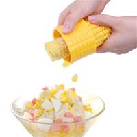 separador de maiz al por mayor-Herramienta manual de separador del maíz Shucker el grano de maíz removedor Niblet Separador de pelado de verduras Sheller Gadgets de cocina JK1911