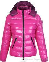 federn unten frauen jacken großhandel-heiße Marken-Frauen-Winter-beiläufige Daunenjacke Daunenjacke Womens Outdoor-Pelz-Kragen-Warm-Feder-Kleid Wintermantel outwear Jacken
