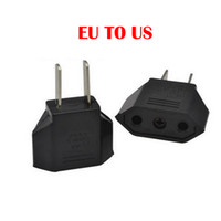 Wholesale universal travel plug adapter for sale - Group buy Universal European EU to US USA American Plug Converter Socket in Adapter Adaptor Travel Tomada de Parede Electrical Outlet