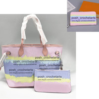 Wholesale matching handbags wallets resale online - Designer Tie Dye Tote With Matching Pouch Luxury Pastel Tote With Zippy Wallet Sold in Set Women s Tie Dye Fashion Handbag Purses