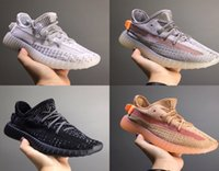 Wholesale solid cream resale online - Static Baby Kid Children Youth Cream Reflective Infant True Form Hyper Bred Beluga Clay Hyperspace Kany West Running Shoes Sport Sneaker
