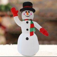 decorações ao ar livre do natal do boneco de neve venda por atacado-2.4 M Kids Party Courtyard Toy Inverno Figura Props ao ar livre Decoração de Natal do feriado portátil Papai Noel inflável do boneco de neve
