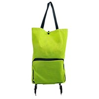 складывающиеся колеса оптовых-Lightweight Foldable Shopping Trolley Wheel Folding Bag Traval Cart Luggage HOT