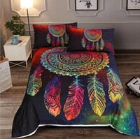 Wholesale queen sized 3d bedding sets resale online - 3D Bedding Duvet Cover Set Piece Cartoon Dreamcatcher Quilt Cover Pillowcase Set Duvet Cover Set Back to School Twin Queen King Size