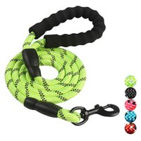 Wholesale strong dog collars leashes for sale - Group buy pet supplies dog accessories FT traction rope Strong Dog Leash Comfortable Padded Handle Highly Reflective Threads Medium Large Dogs