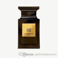 blumiger weihrauch großhandel-Cafe Rose Neutral Parfüm Chypre Blumenduftnoten aus Holz süß dick 100ML EDP Duftsprüher Flasche Lasting Räucherstäbchen Beste Qualität