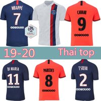 Wholesale psg soccer jersey resale online - Thai top PSG soccer jersey Paris DI MARIA MBAPPE CAVANI VERRATTI germain GANA ICARDI home away third football shirt