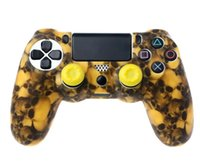 Wholesale ps4 accessories resale online - PS4 Accessories Skull Silicone Gel Guards sleeve Skin Grips Cover Case Caps For Playstation PS4 Pro Slim DHL