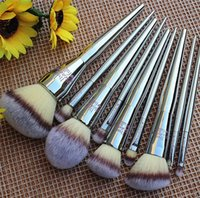 Wholesale eyeliner makeup brushes resale online - Hot Brand beauty set metal makeup brush set powder brush eye shadow concealer eyeliner brush with bag