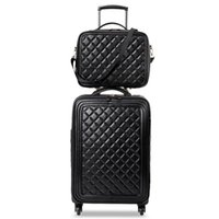 Wholesale spinner travel suitcase set for sale - Group buy 2020 New LeTrend Retro PU Leather Rolling Luggage Set Spinner High capacity Trolley High grade luxury Suitcase Wheels Cabin Travel Bag