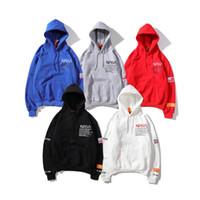 ajustam o hoodie do pulôver venda por atacado-O Logotipo Popular europeu e Americano HERON PRESTON Hoodie Casuais Mens Designer Hoodies Branco Solto-encaixe Homens e Mulheres Moletom Com Capuz