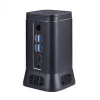 intel hd achat en gros de-V6B Mini Fan PC Ordinateur hôte Périphérique 2MP HD Caméra Quad Core 4 + 64G Windows 10 HDMI 4K WiFi Bluetooth