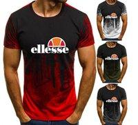 erkekler için t gömlek yaka stilleri toptan satış-Ellesse yeni stil erkekler tasarımcı Giyim nefes bayan yelek slim fit t-shirt moda kısa kollu tişörtleri yaka tasarımcı t shirt