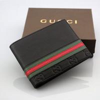 ingrosso scatole di biglietti da visita nere-2019 Nuovi arrivi Nero marrone marca Portafoglio in vera pelle Porta documenti di identificazione degli uomini d'affari per uomo Moda borsa sottile con scatola