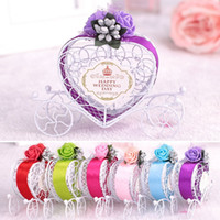 Carriage Designed Hollow Candy Box Weeding Decoration Chocolate Gift Package Case Holder Party Favour Supplies 6 Colors