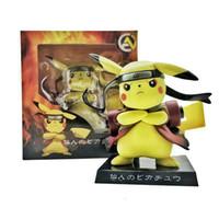 ingrosso giocattoli genuini-Pokemons Genuine Deadpool Action Figure Pikachu Cosplay Deadpool Modello da collezione Toy 15cm Pikachu Superhero Toys
